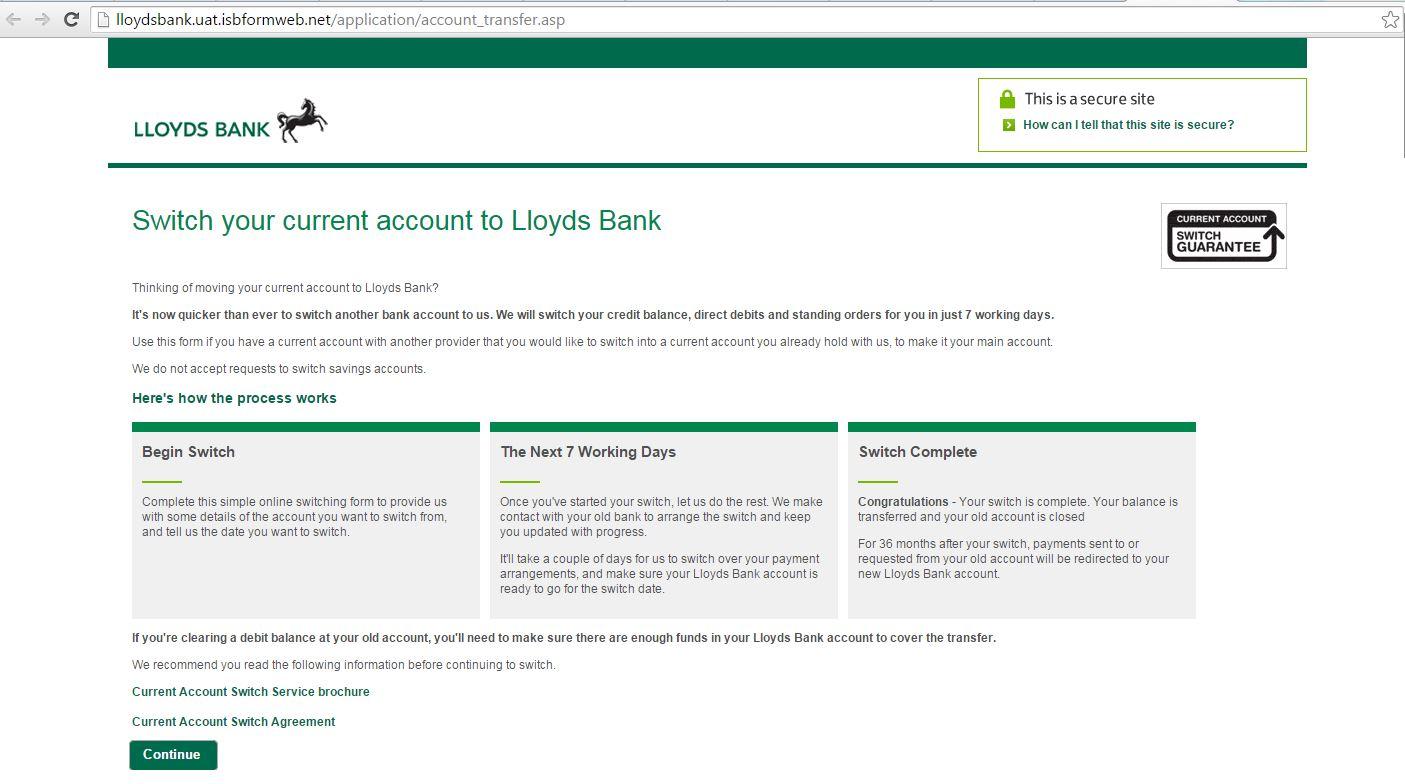 UK phishing on Lloyds Bank