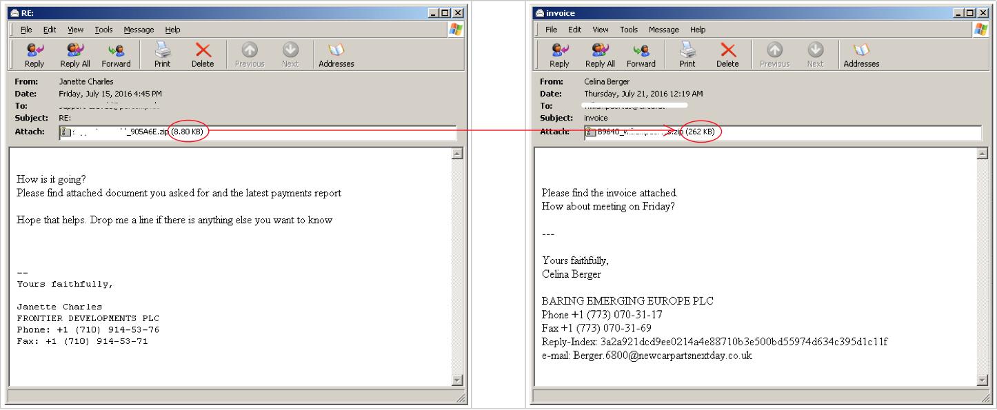Javascript Ransomware, Embedded Javascript - Cyren