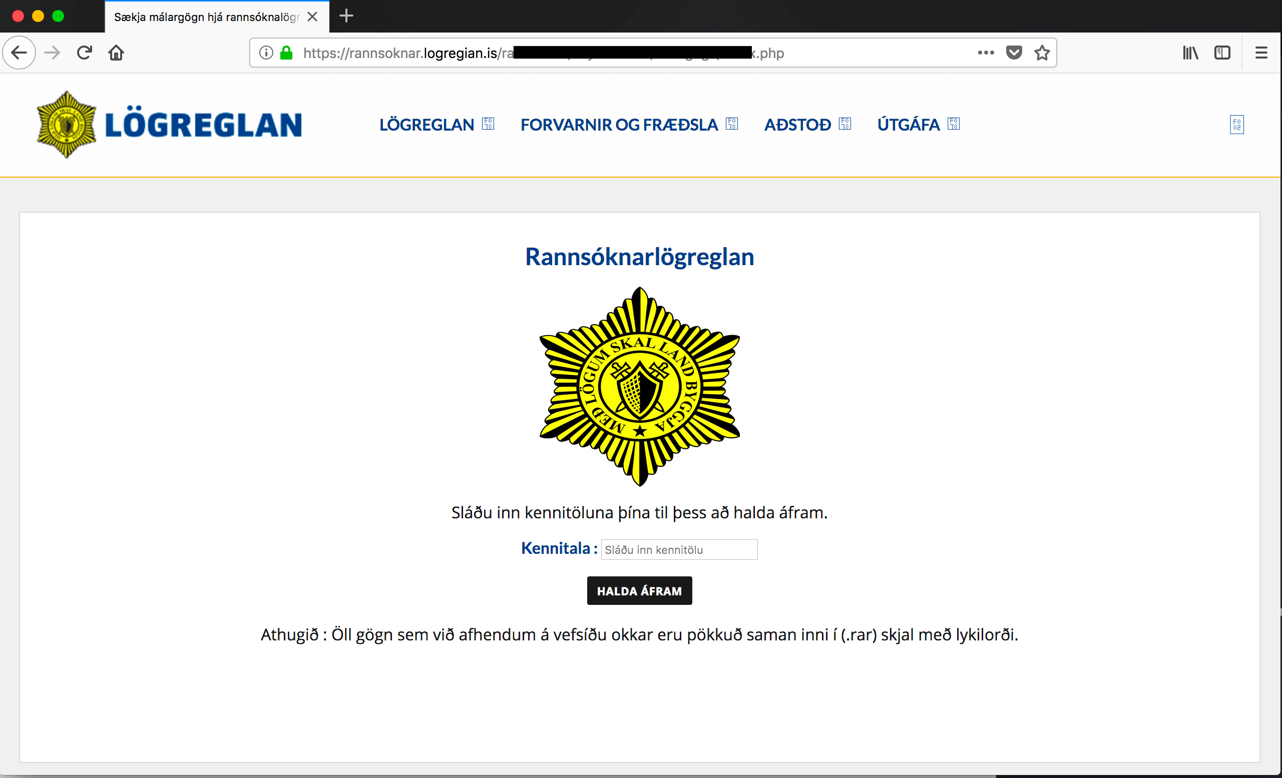 Icelandic Police Phishing Attack Targets Bank Credentials
