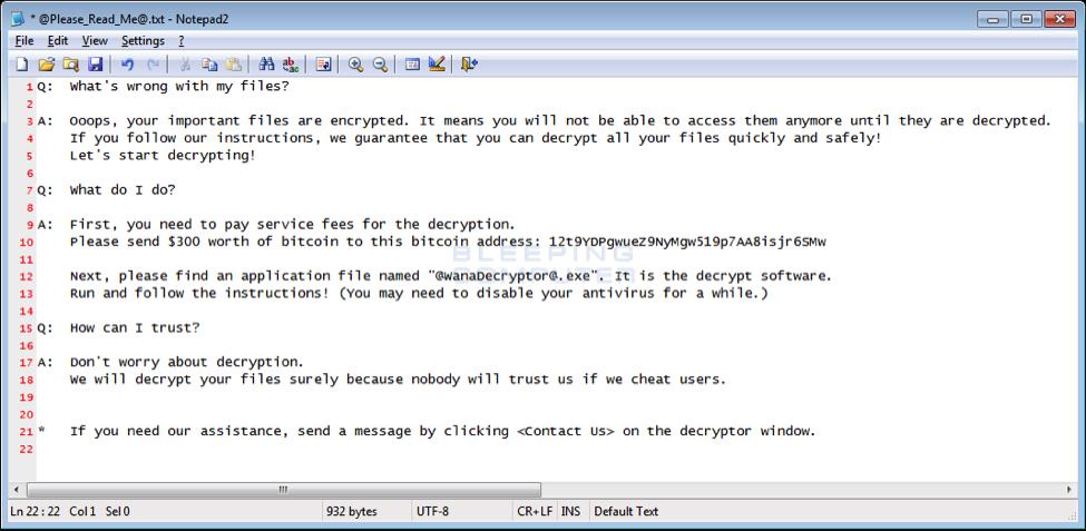 wannacrypt FAQ