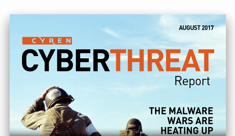 Cyren Cyberthreat report cover